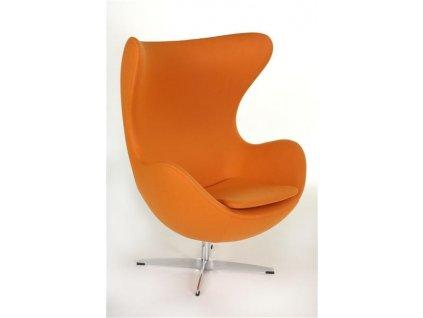 Křeslo EGG oranžové kašmír 11 Premium