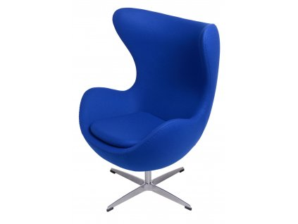 Křeslo EGG tmavě modrý kašmír 118 Premium
