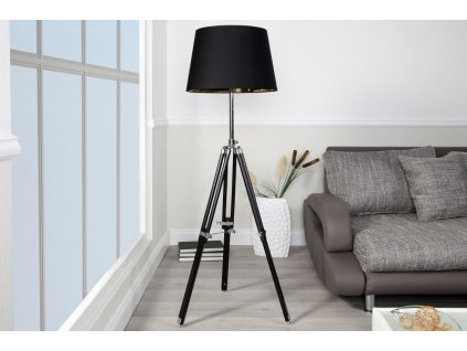 Lampa floor Paura černá