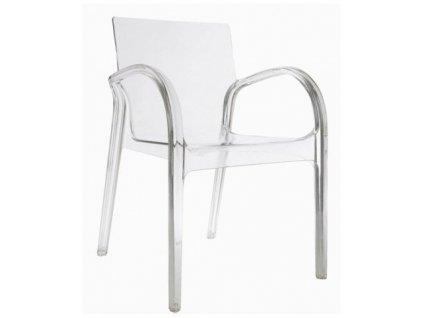 Noah židle transparentní