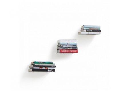 Police na knihy CONCEAL 3 pack stříbrné
