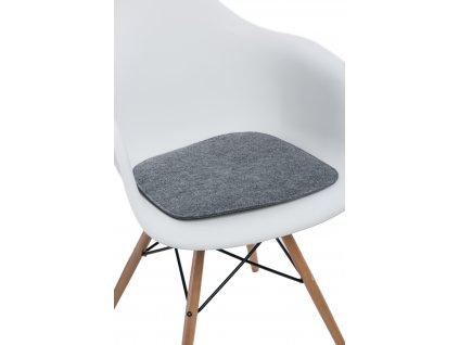 Polštář na židle Arm Chair šedý jas.