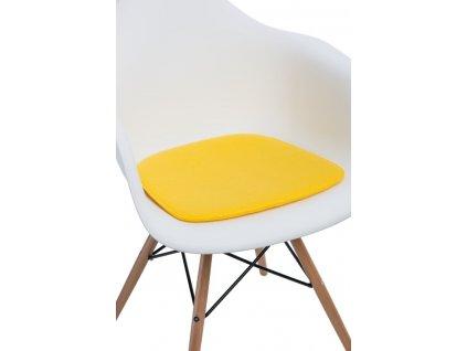 Polštář na židle Arm Chair žlutý