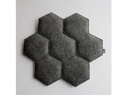 Polštář na židle Plaster černý