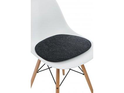 Polštář na židle Side Chair šedý c.