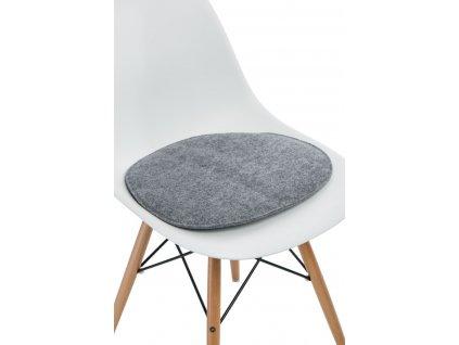 Polštář na židle SIDE CHAIR šedý j.