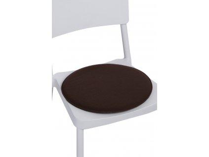 Polštář na židle kulatý hnědý