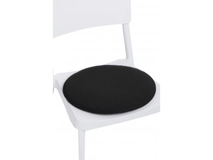 Polštář na židle kulatý černý