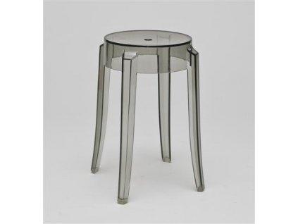 Stolička DUCH šedý transparent 46cm