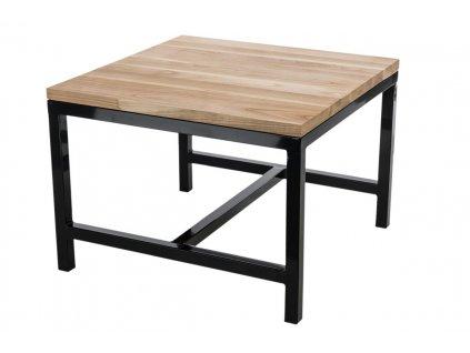 Stolek INDUSTRY 60x60 černý profesionální. 30 mm deska lakovaná z přírodní třešně