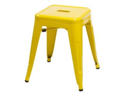 Stolička Paris žlutý inspirovaný Tolix