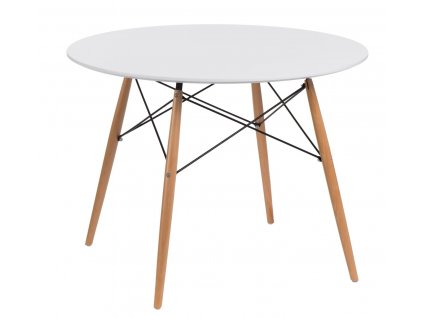 Stůl DTW 100 cm, deska bílá