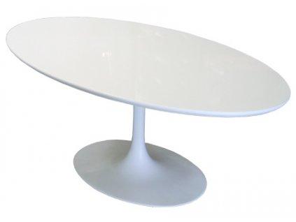 Stůl Fiber ovál 200-120 bílý MDF