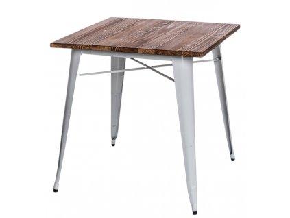 Stůl Paris Wood bílý sosna