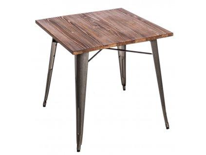 Stůl Paris Wood metalický sosna