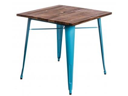 Stůl Paris Wood modrý sosna