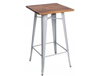 Stůl barový Paris Wood bílý sosna