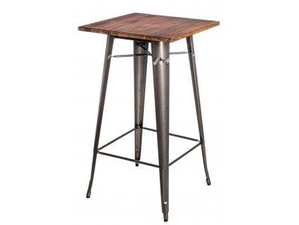 Stůl barový Paris Wood metalický sosna