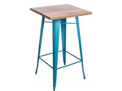 Stůl barový Paris Wood modrý jasan