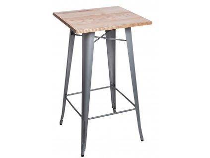 Stůl barový Paris Wood stříbrný jasan