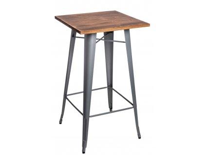 Stůl barový Paris Wood stříbrný sosna