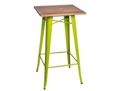 Stůl barový PARIS WOOD zelený jas. sosna