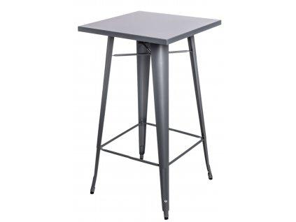 Stůl barový PARIS stříbrný