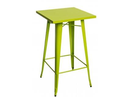 Stůl barový Paris zelený světlý