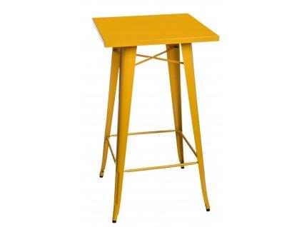 Stůl barový PARIS žlutý