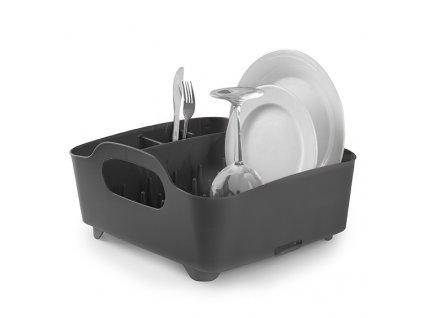 Sušák na nádobí Tube šedý