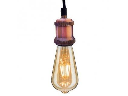 Lustr - Závěsná lampa Industrial Pink Chic