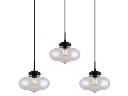 Lustr - Závěsná lampa London Loft 1 CLACK