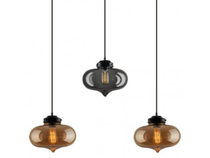 Lustr - závěsná lampa LONDON LOFT 1 clack bsb