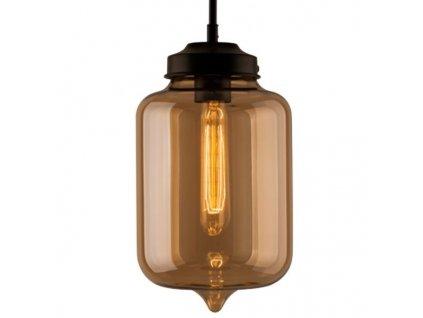 Lustr - závěsná lampa LONDON LOFT 2 jantar