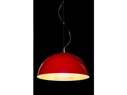 Lustr - Závěsná lampa Luminato 70cm červená