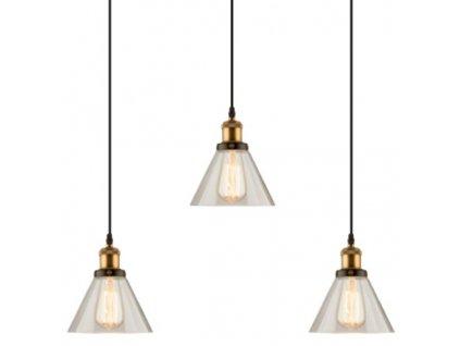 Lustr - závěsná lampa NEW YORK LOFT 1 clack