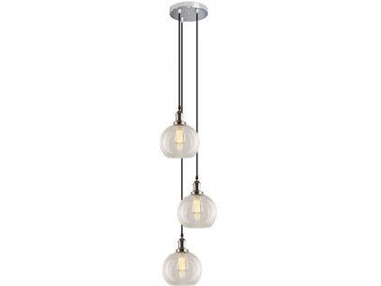 Lustr - Závěsná lampa New York Loft 2 CO CH