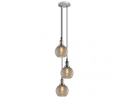 Lustr - závěsná lampa NEW YORK LOFT 2 co schabby kouřová