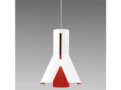 Lustr - Závěsná lampa Origami Design 1 bílá/pom