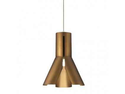 Lustr - Závěsná lampa Origami Design 1 hnědá