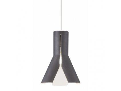 Lustr - Závěsná lampa Origami Design 1 černá/bie