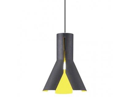 Lustr - Závěsná lampa Origami Design 1 černá/zola