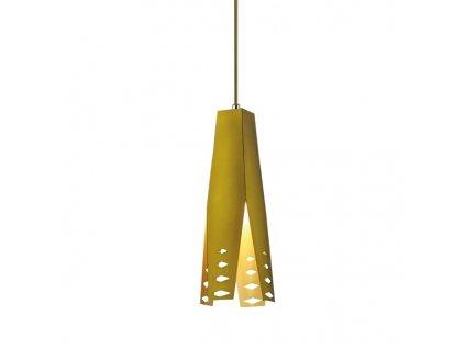 Lustr - závěsná lampa ORIGAMI design 2 hnědá