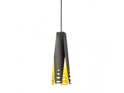 Lustr - Závěsná lampa Origami Design 2 černá/zola