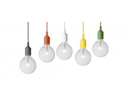 Lustr - závěsná lampa WIRE bílá