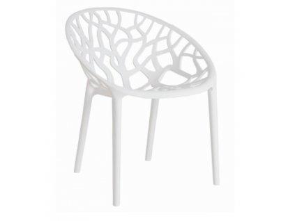 Židle CORAL bílá glossy