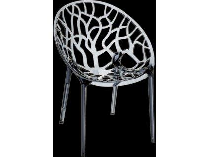 Židle CORAL kouřová