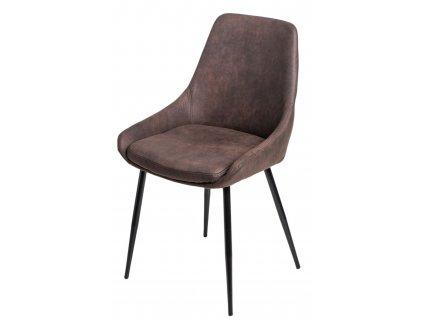Židle FLOYD hnědá tmavá