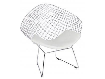 Židle HARRYARM bílý polštář