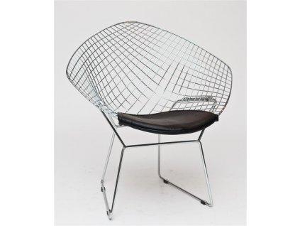 Židle HARRYARM černý polštář